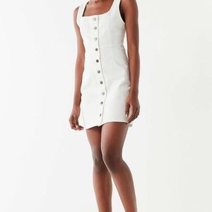 Urban Outfitters white button denim dress